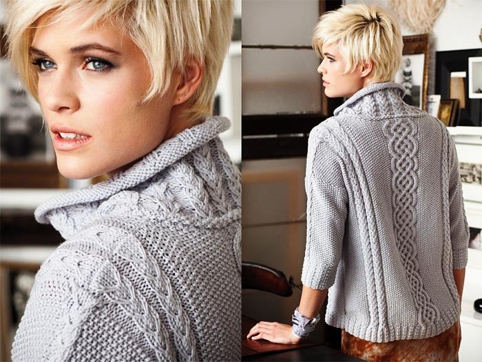 Пуловер дамский спицами: модно и актуально