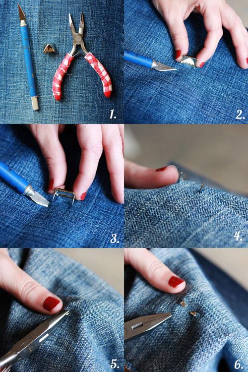 Как украсить джинсовую рубашку