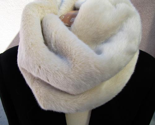 Меховой шарф своими руками