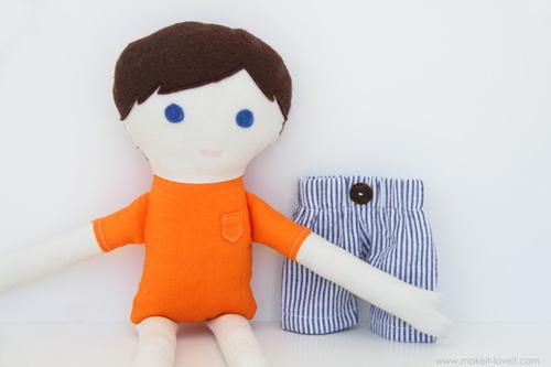 Мягкая кукла своими руками