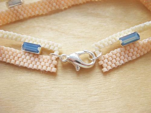 Застежка из бисера для браслета своими руками