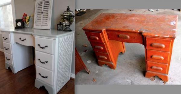 Обновить старый письменный стол своими руками
