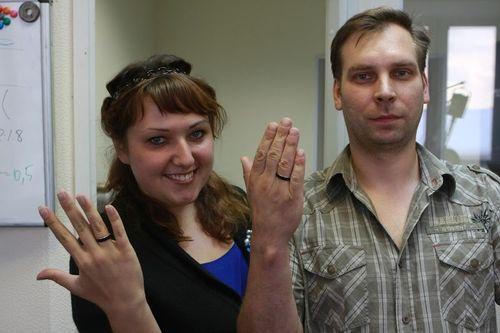 Золотые обручальные кольца своими руками за 1 день!