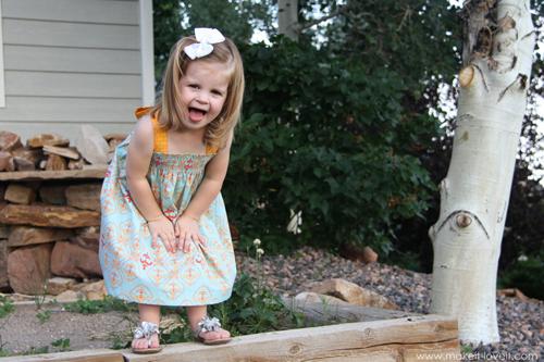 Летнее платье для девочки своими руками