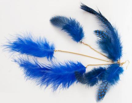 Как сделать серьги с перьями