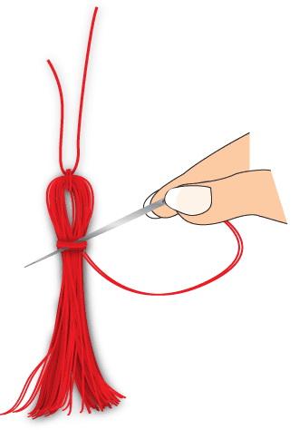 Как сделать кисточки из ниток