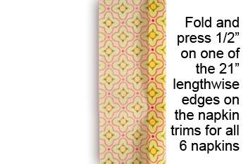Салфетки из ткани своими руками