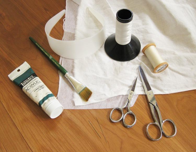 Как украсить обруч для волос