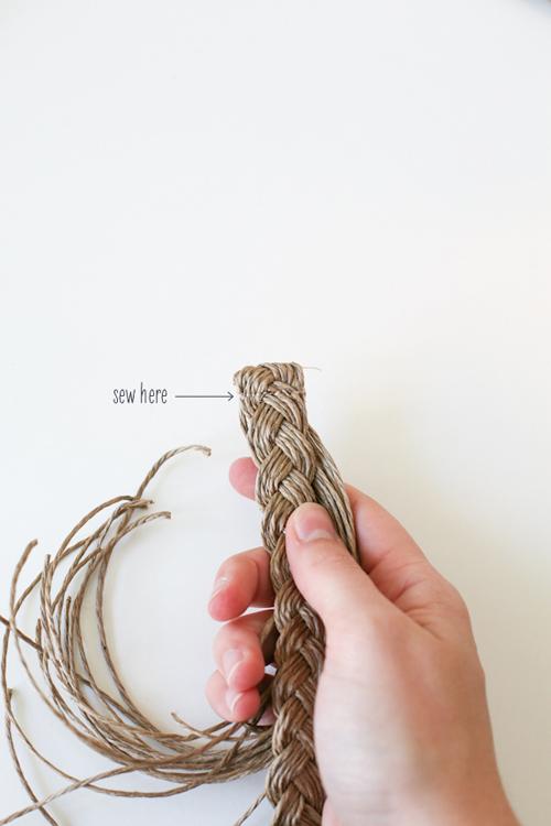 Плетеный пояс своими руками