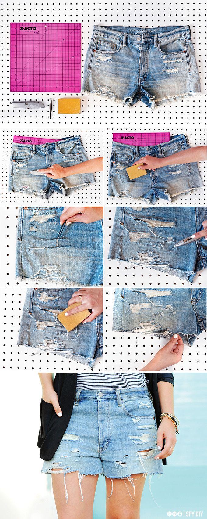 Как сделать рваные шорты: фотомастер класс