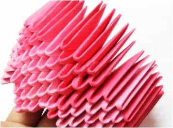 Модульное оригами: негрубый 3D цветок