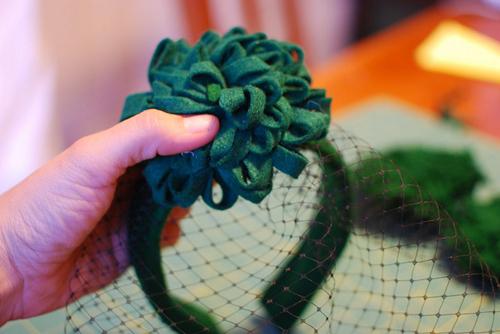 Как сделать шляпку на ободке