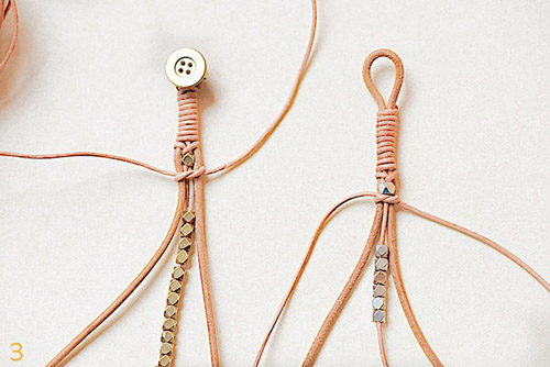 Кожаные плетеные браслеты своими руками