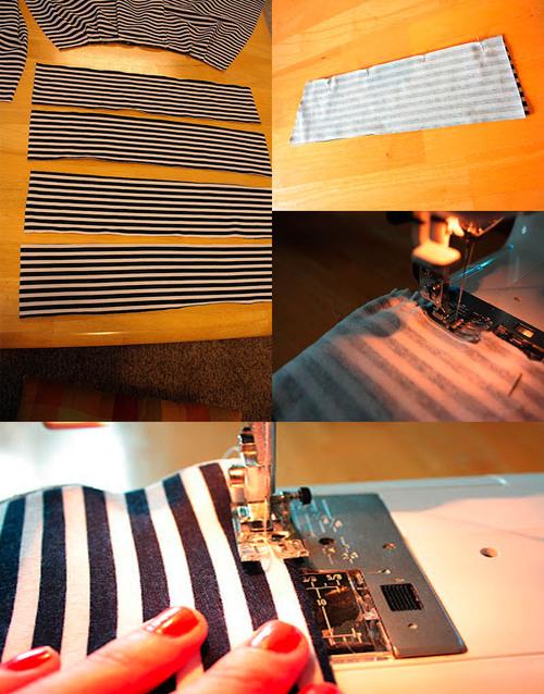 Как сшить летнюю полосатую юбку