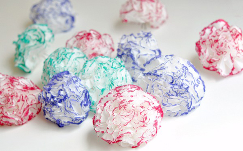 Как сделать цветы из  салфеток