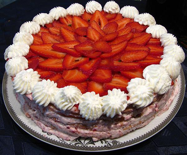 Торт из  зефира: самолучший десерт  безо выпечки