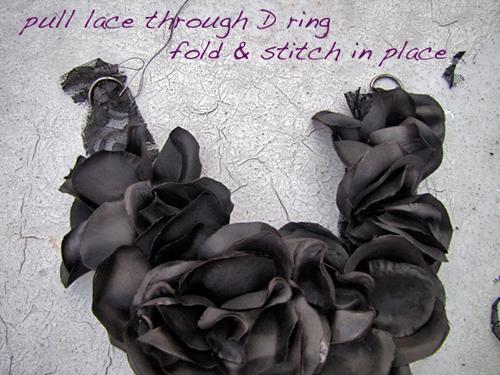Колье из цветов из ткани своими руками