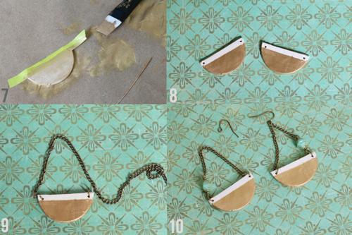 Серьги-полумесяцы из полимерной глины