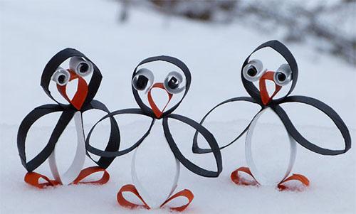 Поделка из  картона - пингвин