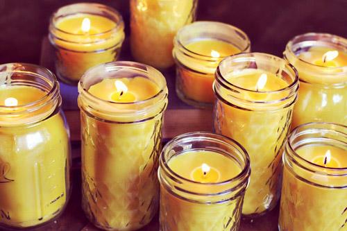 Простые свечи в стекле своими руками