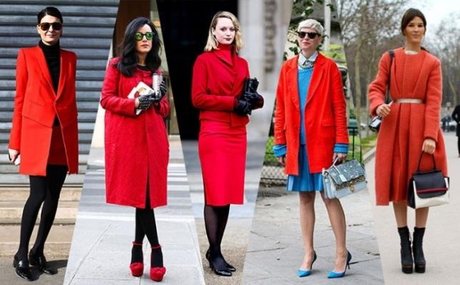 Настроение в  цвете: с чем  носить красное пальто?