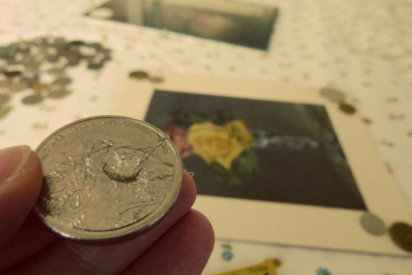Делаем фоторамку из монет