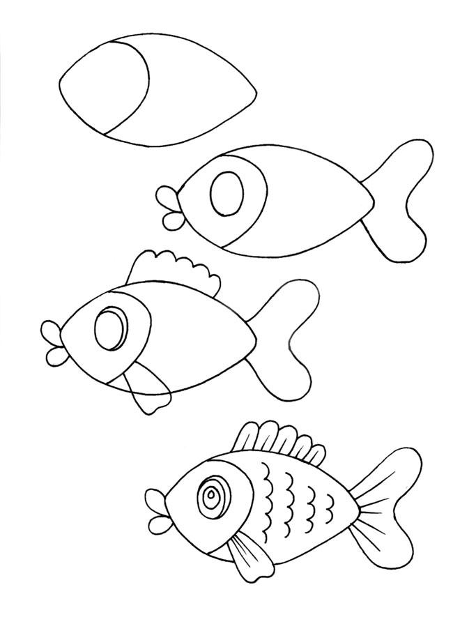 Как нарисовать рыбку: советы про начинающих художников