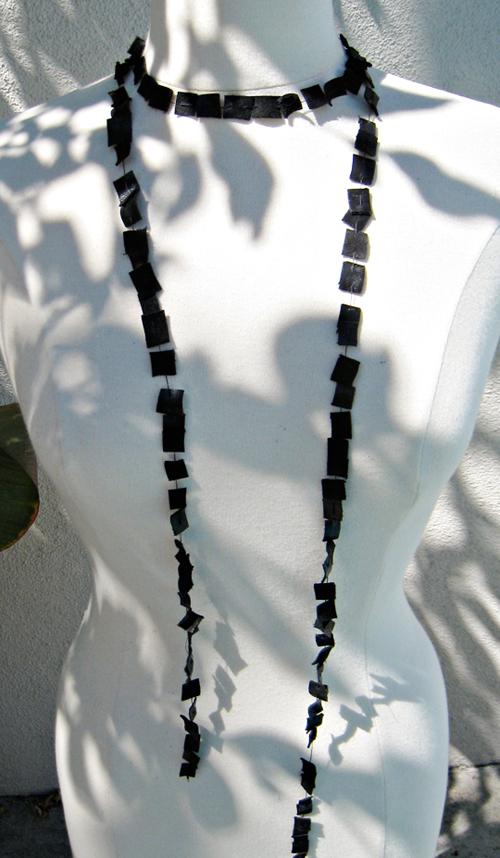 Ожерелье из кожи своими руками