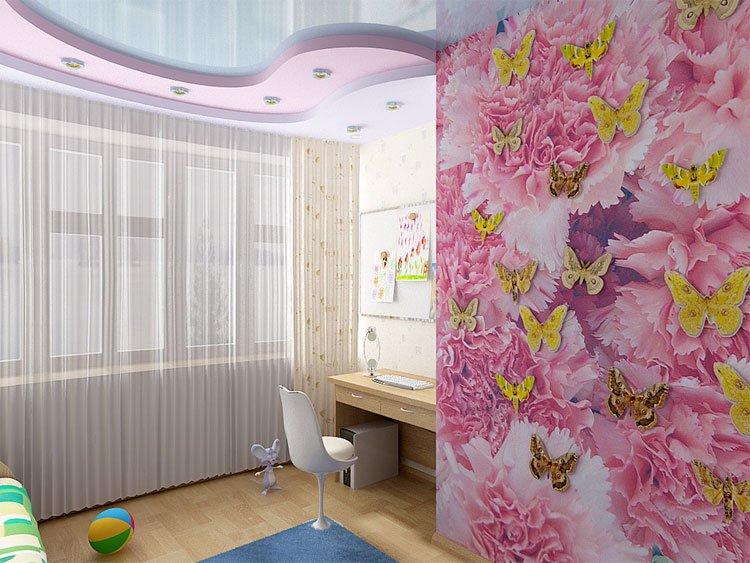 Интерьер и дизайн детской комнаты фотогалерея