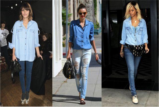 Стильный образ: с нежели носить джинсовую рубашку?