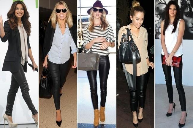 С чем  носить кожаные брюки, дабы выглядеть стильно?