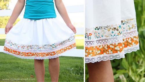 Простые юбки своими руками фото