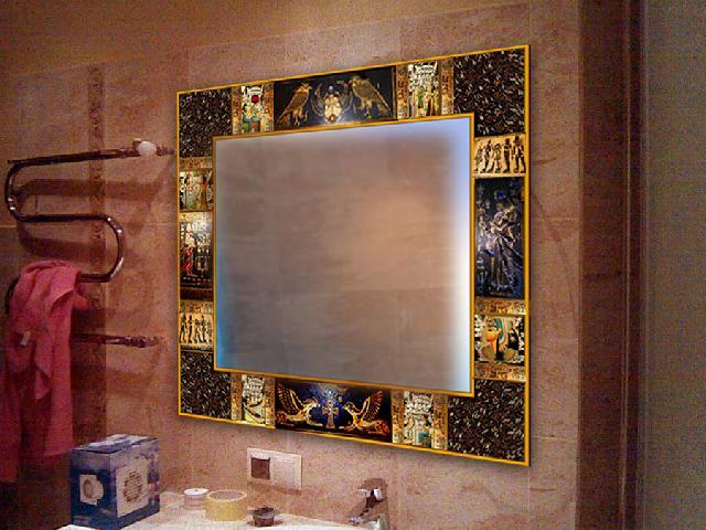 Фото обрамление зеркала своими руками