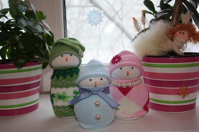 Поделки к новому году своими руками снеговик
