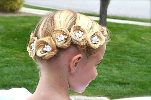 Модные прически ради девочек ради коротких волос