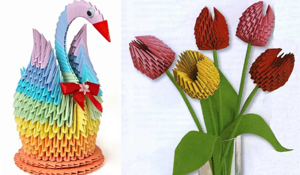 Оригами про ценителей: фигурки