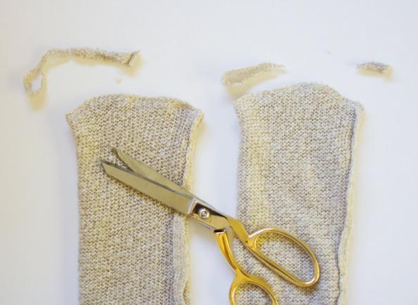 Как сделать носки из свитера