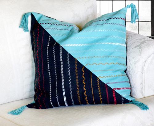 Как сделать подушку своими руками без швейной машинки