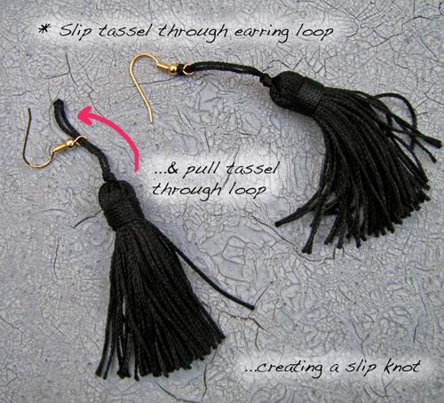 Как сделать длинные серьги