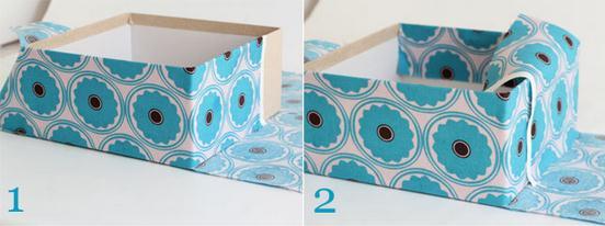 Как обшить коробку тканью