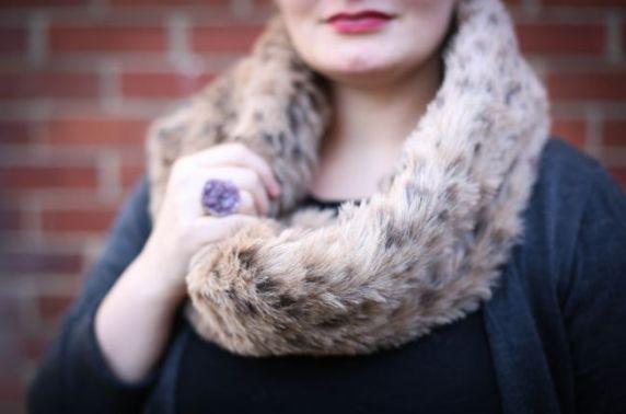 Как сделать меховой шарф