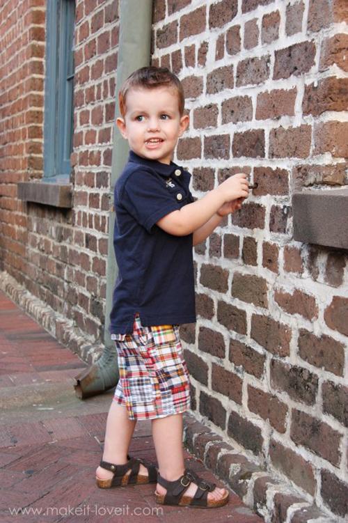 Шортики для мальчика своими руками