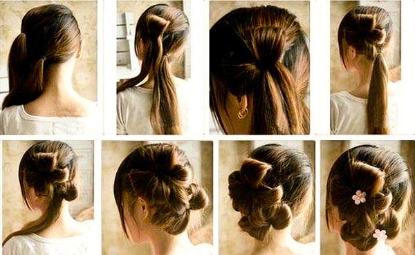 Цветок из  волос: самая романтичная укладка