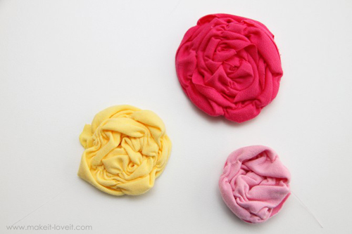Заколки для волос из ткани