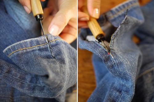 Как сделать джинсы клеш