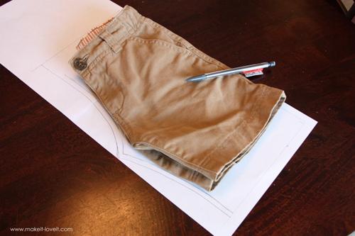 Как самому сшить шорты для мальчика 128