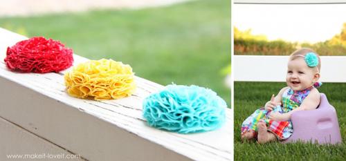 Делаем цветок из ткани