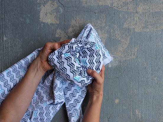 Шарф из ткани своими руками