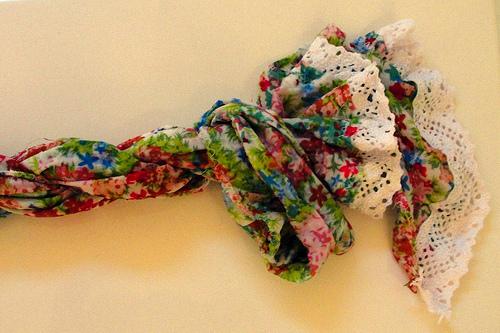 Цветной летний шарф своими руками